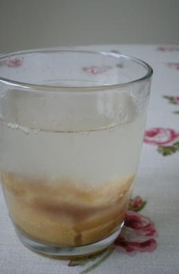 glass of salted lemon lemonade