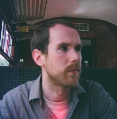 Tim on board restored diesel train