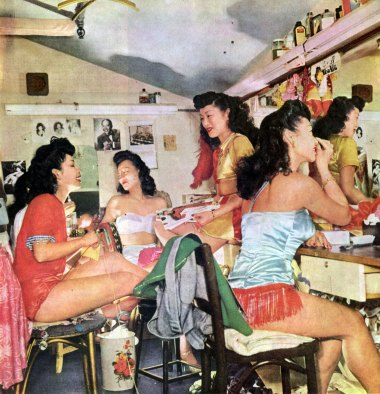 Forbidden City chorus girls backstage