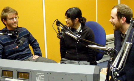 HK60s on Lucky Cat, Resonance FM studio